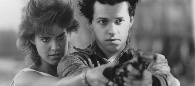 Catherine Mary Stewart and Jon Cryer in Dudes